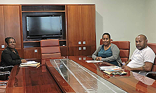 Betty Wakia  Caroline Evari and Jordan Dean